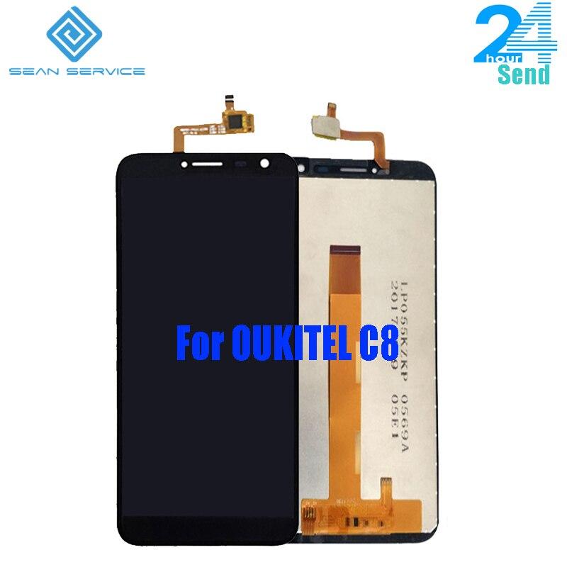 Für Original Oukitel C8 LCD Display Screen + Touch Screen Digitizer Montage Ersatz 18:9 Display 5,5 zoll Lager