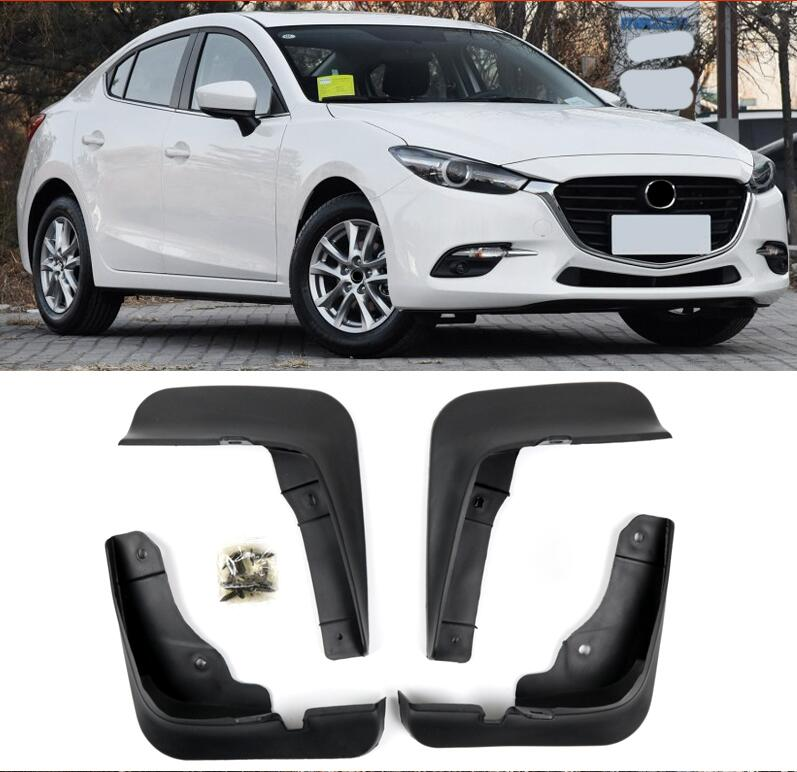 Mudguards 4pcs MUD Flaps Flap Splash Guards Mudguard for Mazda 3 M3 Axela 2014-2017