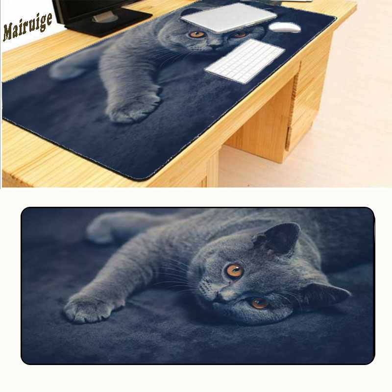Mairuige Free Shipping Cat Rubber Anti-slip Mousepad Computer Skin Animation Game Large Mouse Pad Mat Best Durable Mouse Mat