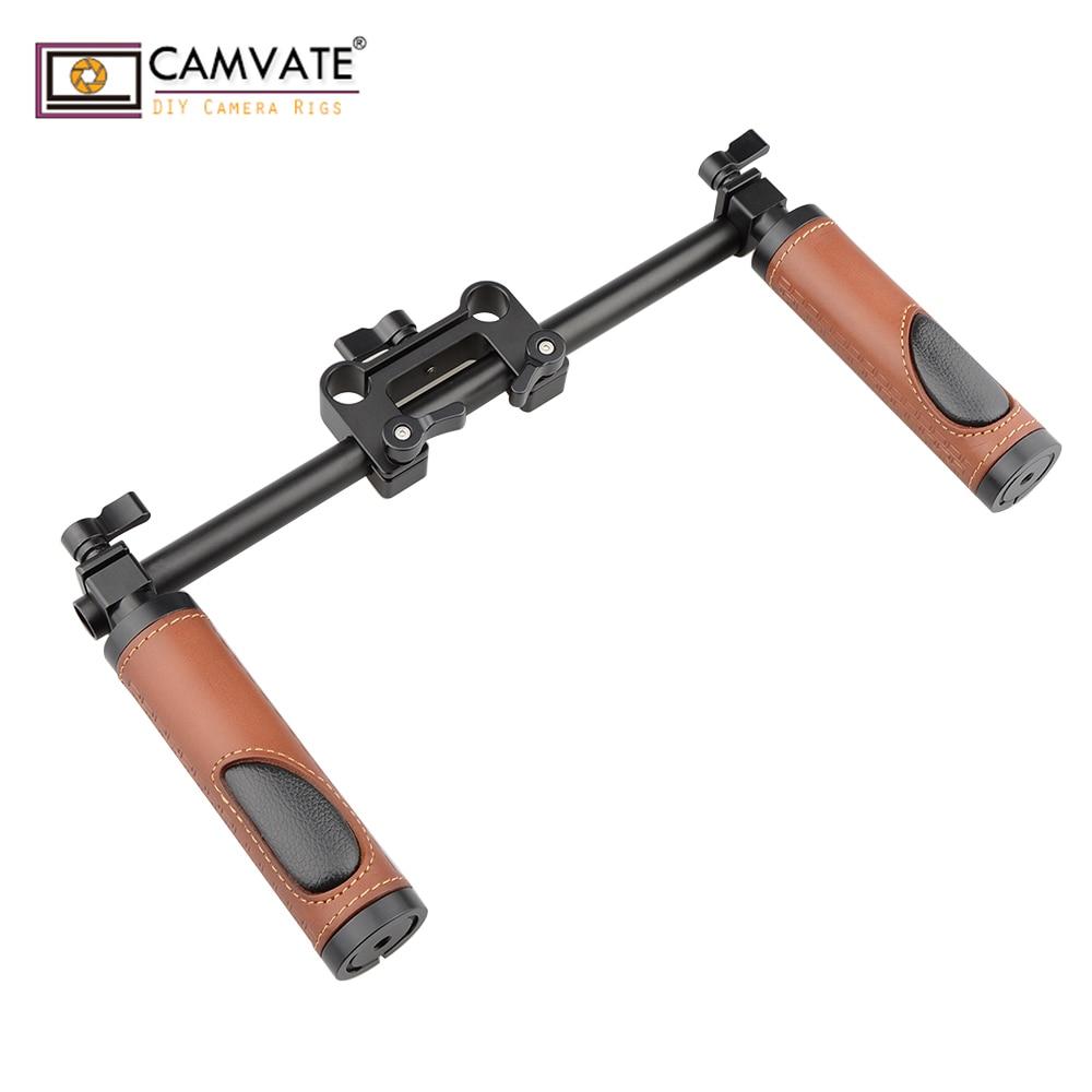 CAMVATE Handle Grips (Leather) Handlebar Support Kit For DSLR Camera Camcorder Shoulder Rig  C1614 Camera Photography Accessorie