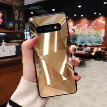 Luxury Diamond Glitter Mirror Case For Samsung Galaxy M30 M20 M10 A10 A20 A30 A50 A70 Cover Soft Edge Candy Cases S10 S9 Plus S8