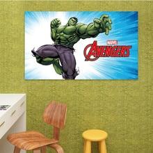 Top 14 Different 3D Cartoon Super Hero Marvel Avengers The Hulk Poster Wall Sticker Home Decor for Kids Room Wallpaper Mural