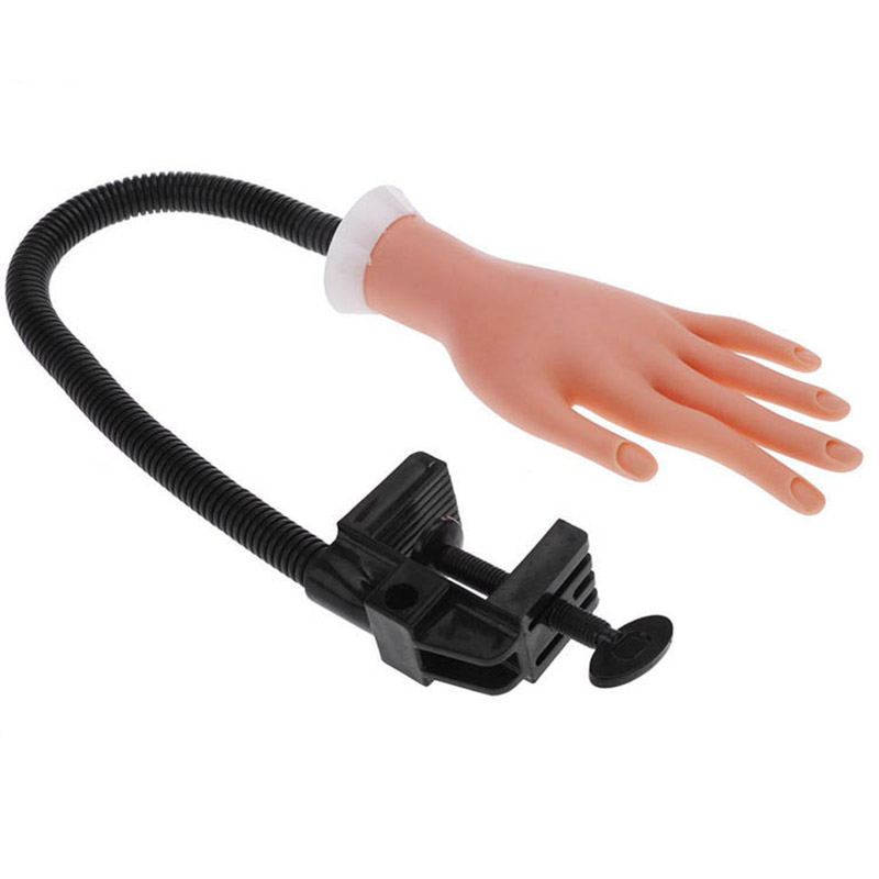 1 *prosthetic Hand Hard Rubber Nail Hand Model Adjustable Exercise Hand And With Bracket Arm Nail Tool Model Practice Can Bend