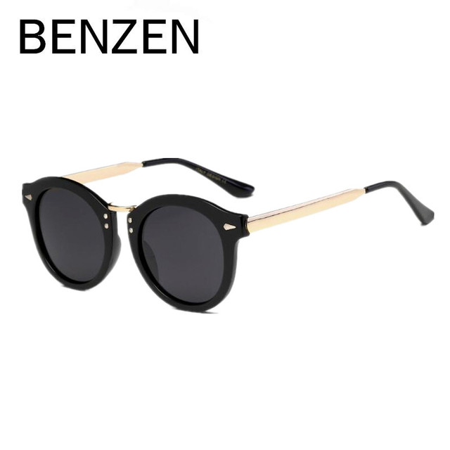 d96f0efe138f BENZEN Polarized Sunglasses Women Vintage Round Female Sun Glasses UV Ladies  Driving Glasses Shade With Original