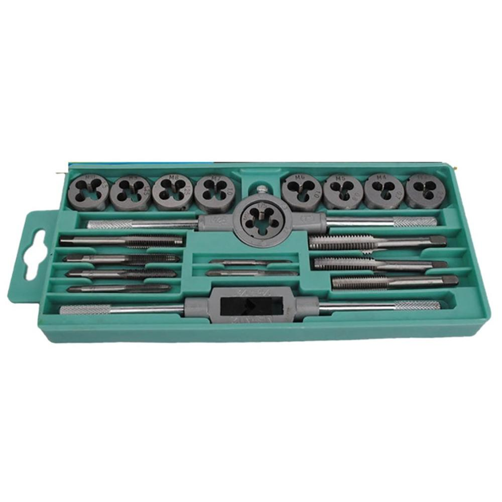 Multi-Use Tap Dies Set Adjustable Metric Carbon Steel Hand Screw Taps Holder Thread Gauge Wrench Tool For Car Repair
