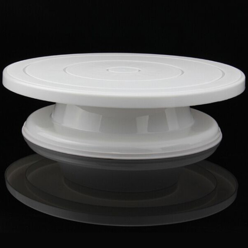 revolving cake stand turntable decorating stand platform white 28cm 7084