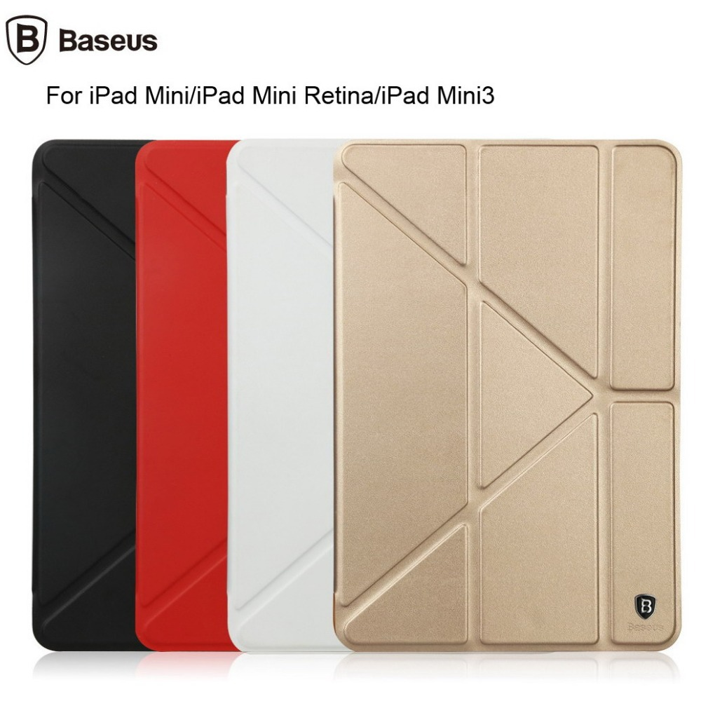 new concept e3c35 7f7bb US $19.95 |For Apple iPad Mini 3 BASEUS Pasen Series Sleep Wake Up Smart  Cover Stand Flip Cover Leather Case For iPad Mini Retina Free Ship-in  Tablets ...