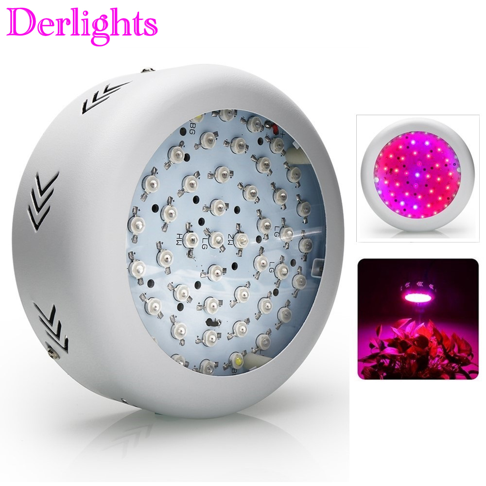 UFO 150W LED Grow Light 50X3W LEDs Full Spectrum Grow Box 410 730nm For Indoor Greenhouse Plants Flower with Very High Yield