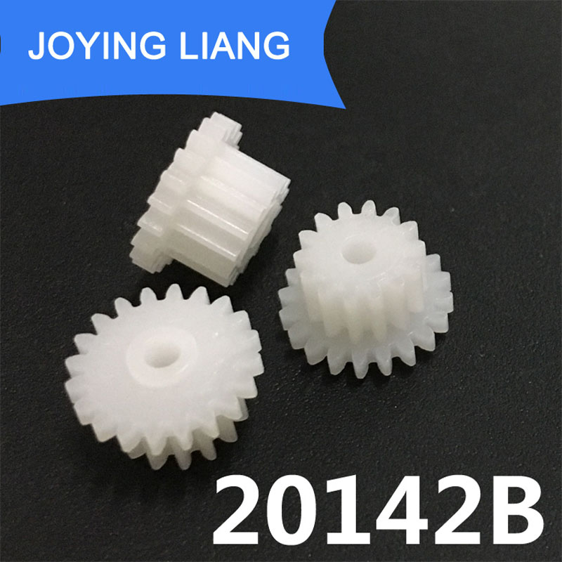 20142B 0.5M Gear 11mm Diameter POM Plastic 20 Teeth + 14 Teeth Double Layer Gears 2.05mm Hole Toy Parts 10PCS/lot