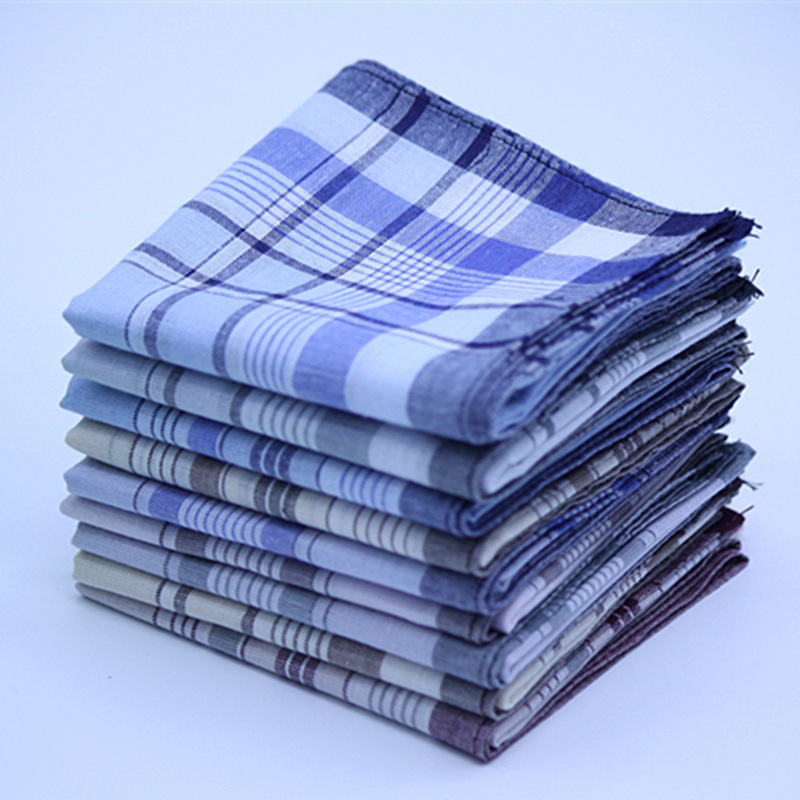Image 2 - 5Pcs/lot Plaid Stripe Handkerchiefs for Men Classic Business Style Pocket Hanky Handkerchiefs Pocket 100% Cotton Chest Towel-in Handkerchief Towels from Home & Garden