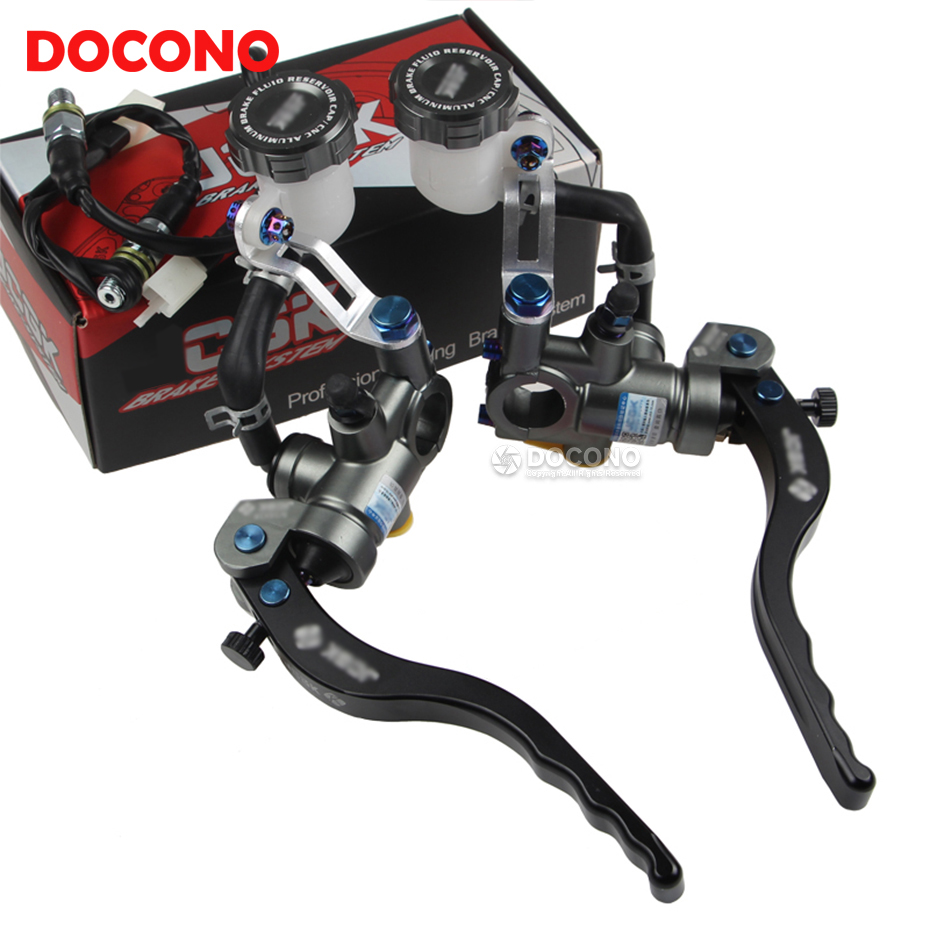 Motorcycle CNC aluminium modified direct push brake pump For suzuki skywave 400 boulevard c50 rmz 450 yamaha r3 r6 mt 07 fz6 xj6 blue cnc aluminum atv a arm motorcycle brake line clamps for suzuki lt ltr ltz 250 400 450 motor
