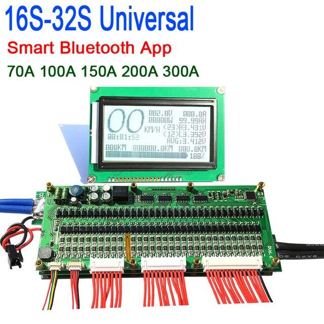 Smart 8S   32S بطارية bms لوح حماية بلوتوث APP Lifepo4 ليثيوم أيون BMS 70A/100A /200A/300A 14S 16S 17S 20S 22s