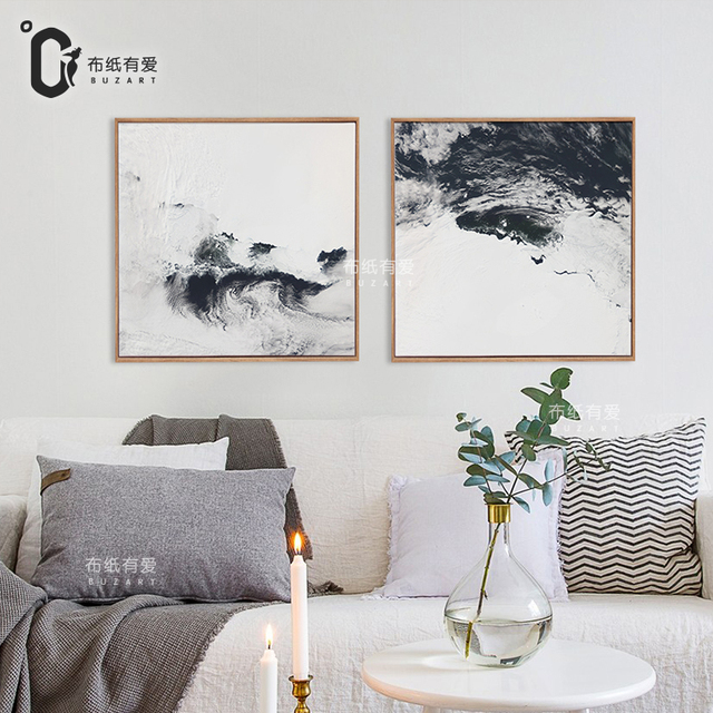 Rivers Black And White Abstract Oil Painting Canvas Wall Art Poster Prints Home Decor No