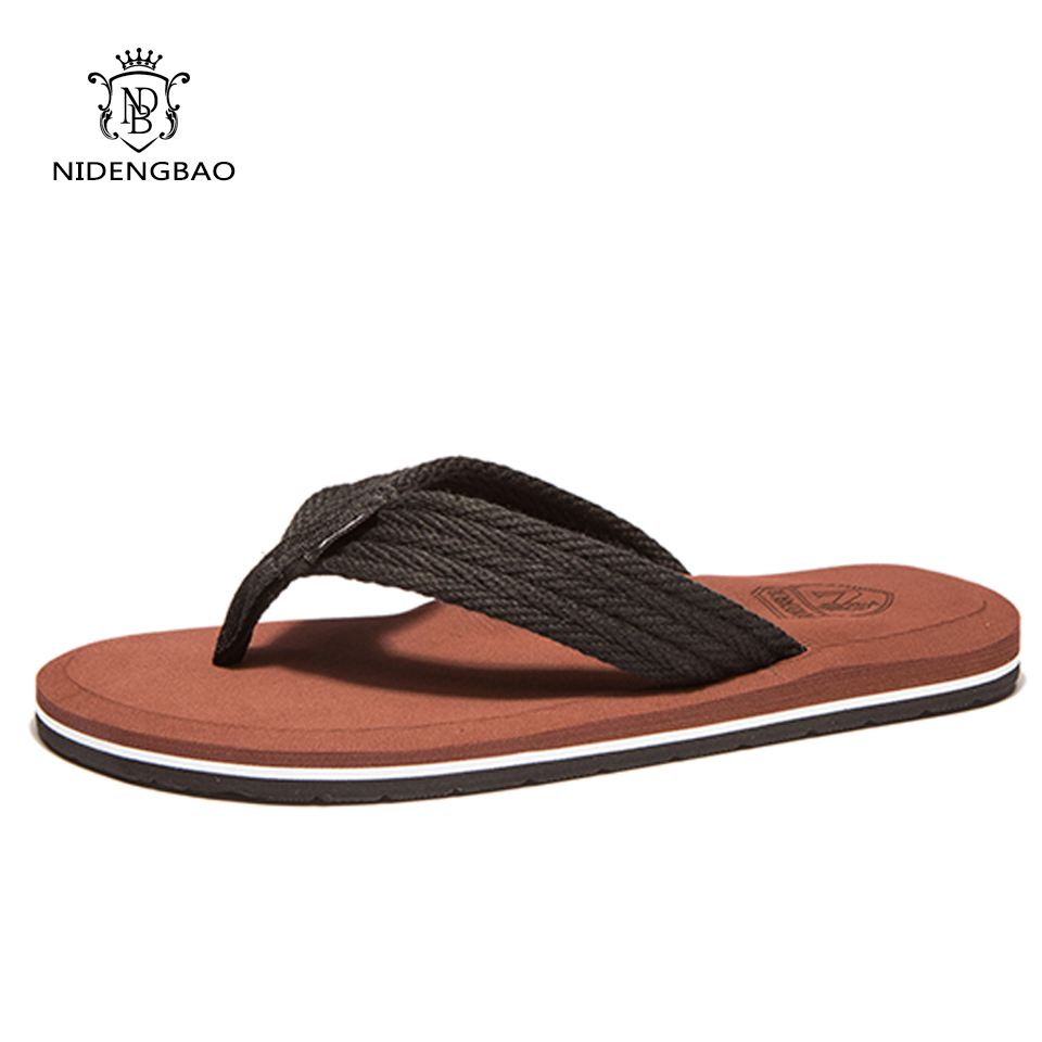 NEEDBO Flat Flip Flops Sandals Casual Men Slippers Shoes Comfortable Summer Beach Sapatos Hembre sapatenis masculino(China)