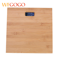 WFGOGO Bamboo 180KG Bathroom Scales Smart Led Digital Floor Balance Weighing Machine Body Household Weight Scale