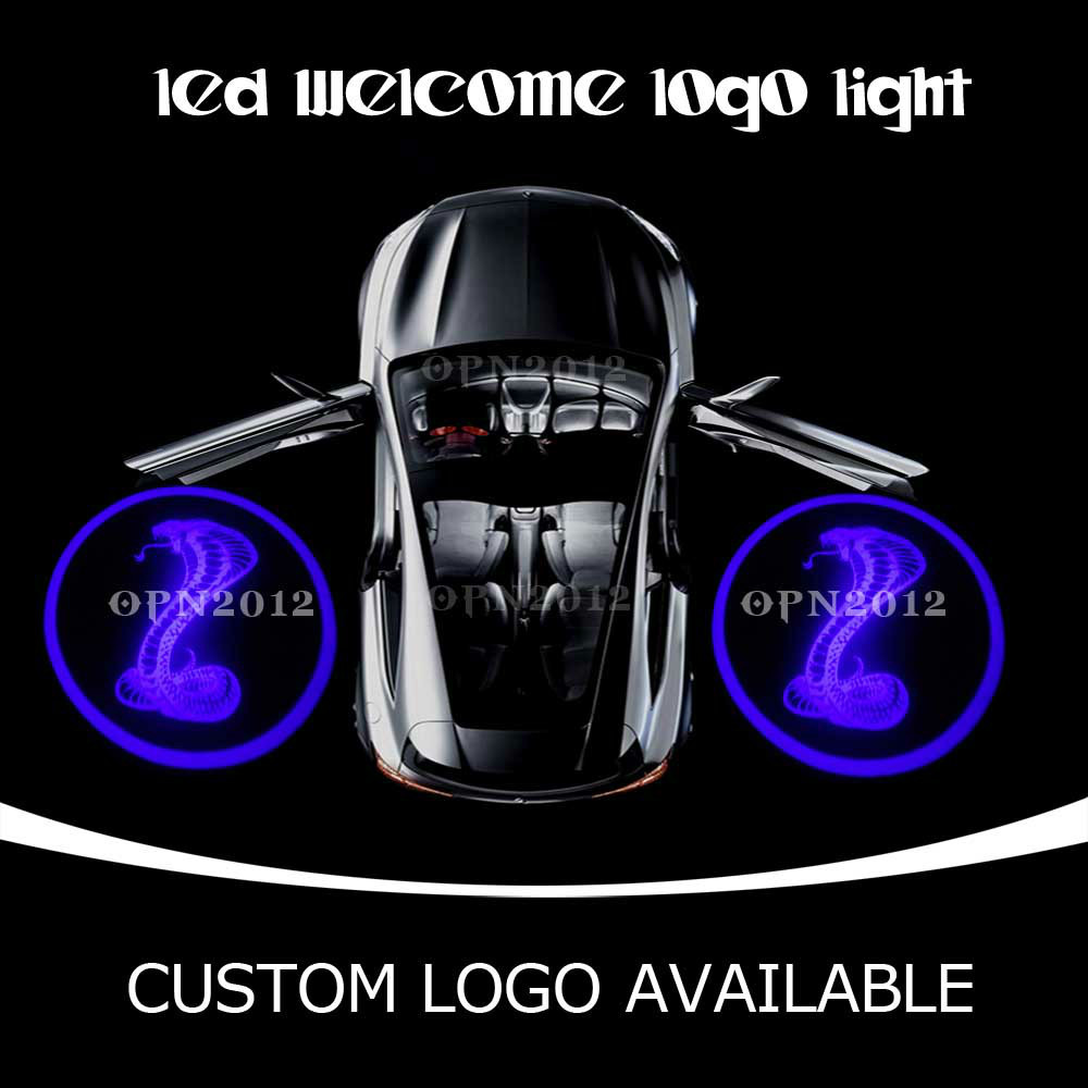 Cobra Venomous Snake Laser Logo LED Door Courtesy Projector Ghost Shadow Light For CADILLAC MUSTANG ODYSSEY 2210 Blue