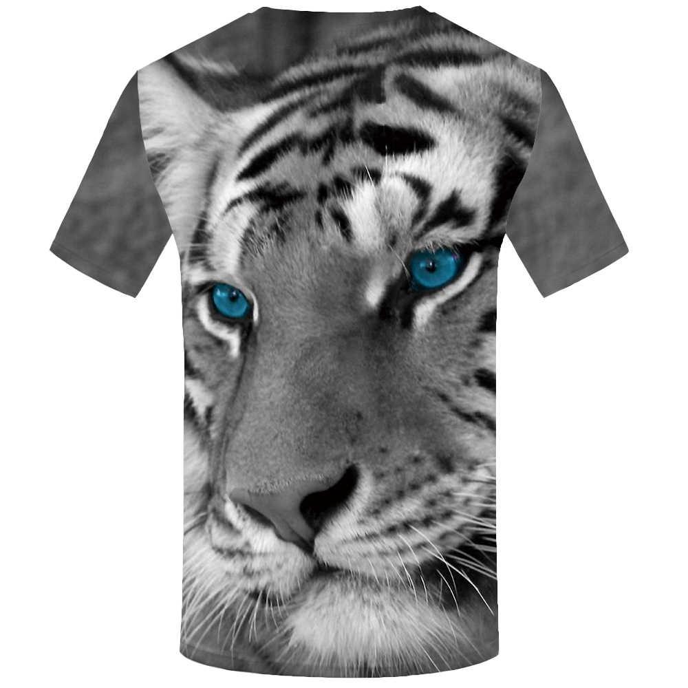 KYKU Tiger Футболка женская серая одежда животное 3d футболка s Одежда Топы женские s 2018 забавные летние китайские