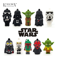 Easy Learning Cartoon Star Wars USB Flash Drives 4GB 8GB 16GB 32GB 64GB USB 2.0 Pendrives Pen Drive Memory Stick