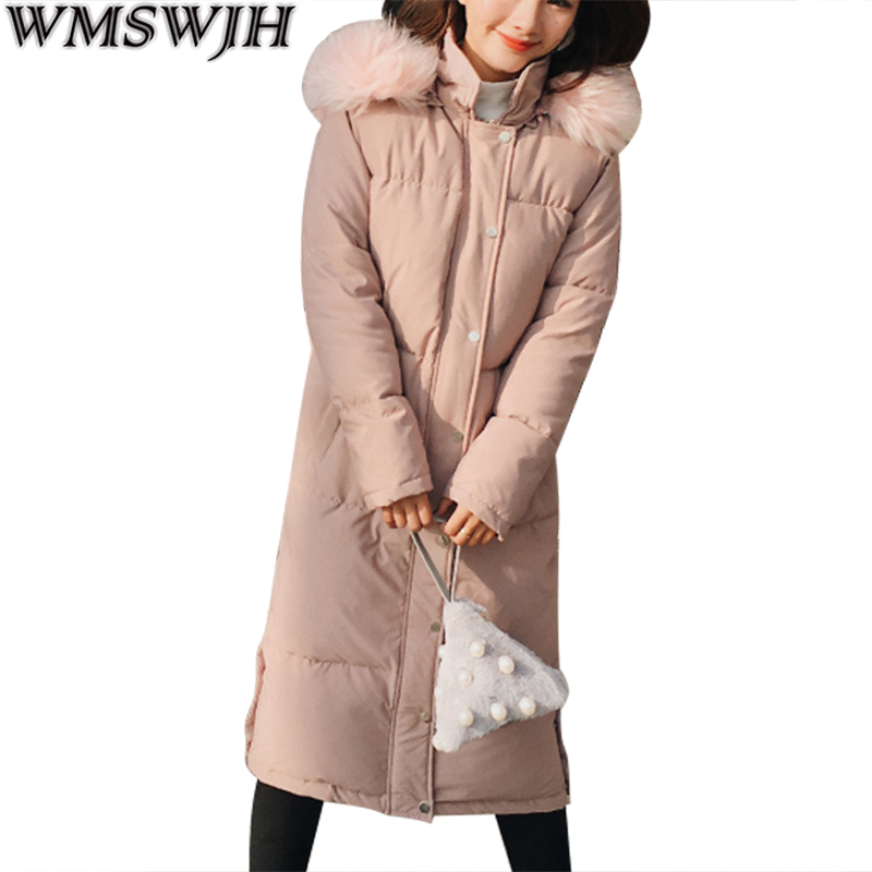 2017 New Winter Jackets Women Cotton Coat Fur Collar Hooded Thick Long Parka Fashion Women Coat Warm Outwear High quality Parkas fashion trend winter 2017 new women cotton long jacket hooded design thick warm women parkas coats high quality warm outwear