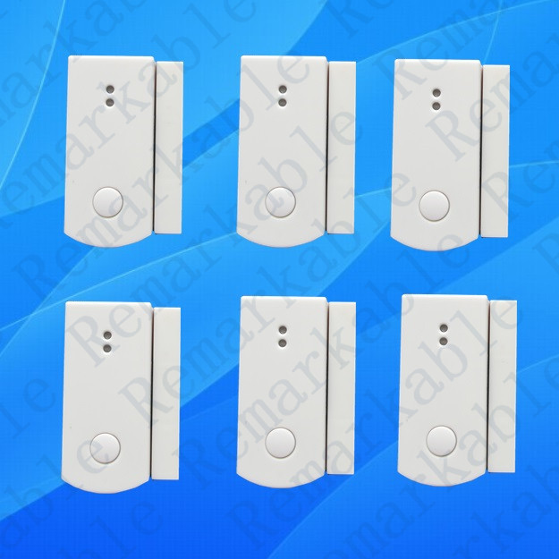 6PCS 433MHZ 868MHZ door sensor,door gap magnetic detector window magnet sensor,door contact for home security alarm system X6 yobangsecurity wireless door window sensor magnetic contact 433mhz door detector detect door open for home security alarm system