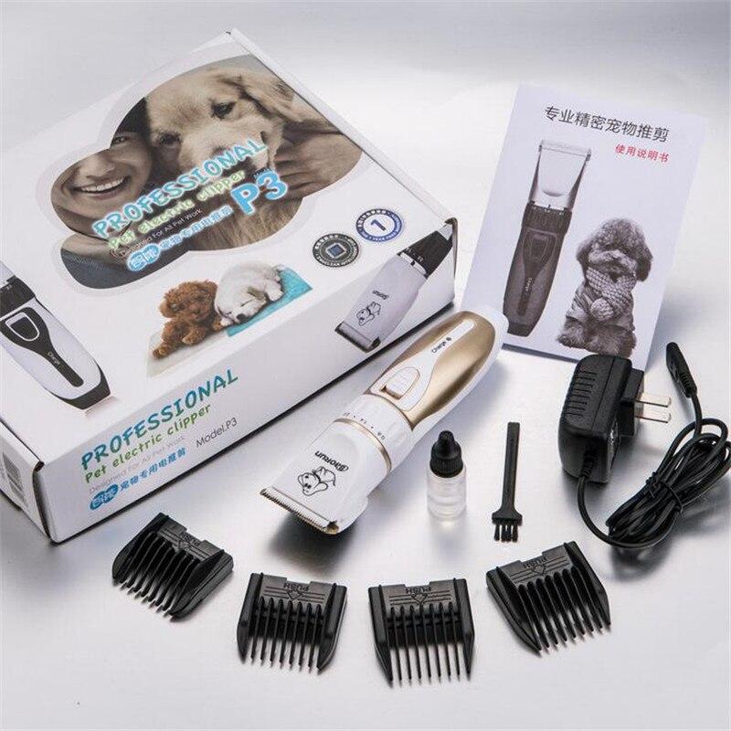 Profissional elétrico pet aparador de pêlos do cão gato scissor clipper cortador de cabelo máquina pele coelho grooming pente corte tesoura barbeador razo