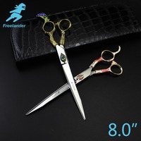Freelander8 0inch Professional Shears Dog Pet Grooming Scissors Polishing Tool Animal Haircut Suppliers Instruments High Quality