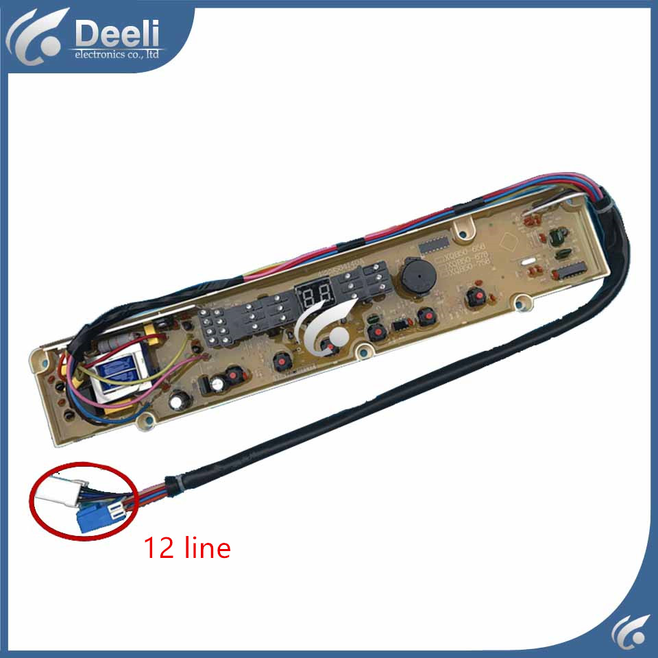 100% tested for Sanyo washing machine board XQB50-Y807SJ motherboard 12 line used 100% tested ut38e