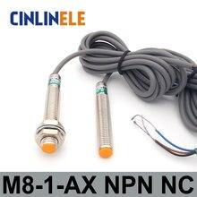 M8 LJ8A3-1-Z/AX 1 мм 6-36 в индукционный DC NPN NC металлический Датчик индуктивный датчик приближения экран щит Тип LJ8A3 сенсор переключатель
