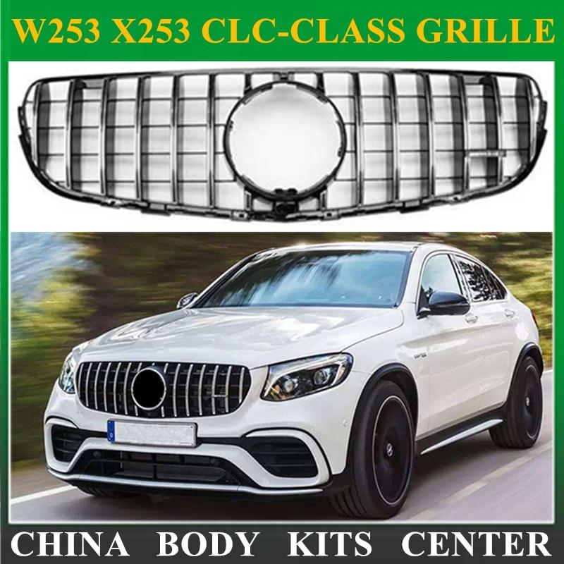 MG Front grille center grill for 2014-2017 Mercedes benz W253 X253 GLC200 GLC250 GLC300 Sport glC450 GLC63 grille chrome rear bumper trunk door sill plate cover for mercedes x205 glc benz glc200 glc250 glc300 2015 2016