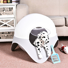 Cat Fully Enclosed Litter Box Large Space Ship Bedpans Deodorant Space Capsule Puppy Dog Cat Supplies Toilet Training Kit Mat