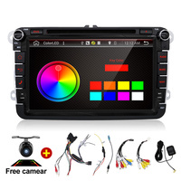 2Din 8 Inch Car DVD Player Android 4Core For VW Volkswagen Passat POLO GOLF Skoda Seat