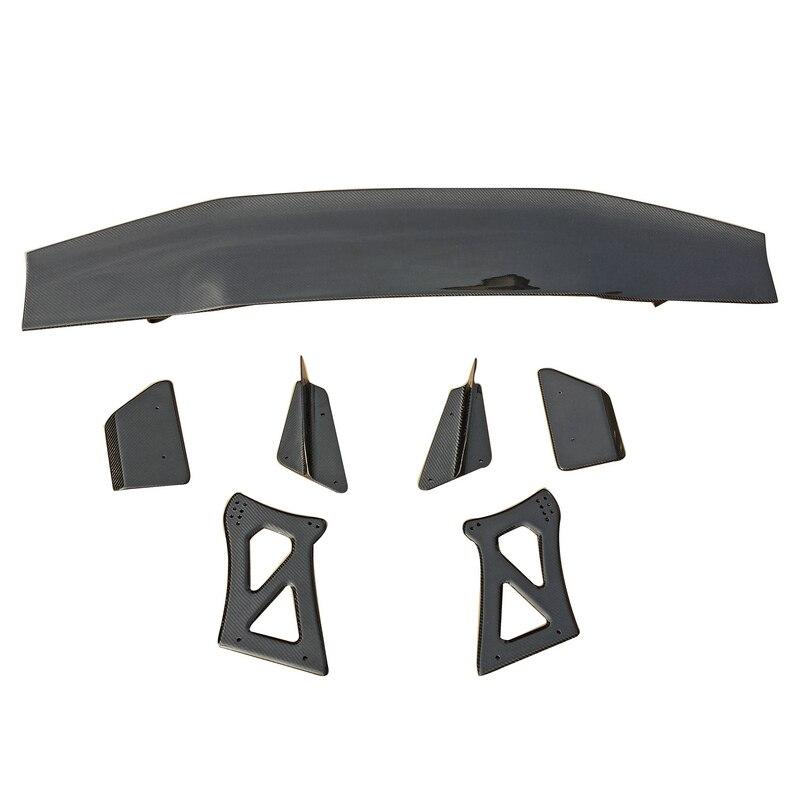 Accessoires de voiture Style VRS Fibre de carbone brillante GT aile Fibre couvercle de coffre arrière becquet Kit de coffre pièce pour Mitsubishi Evolution EVO 10