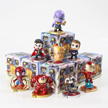 8 sztuk partia nieskończoność wojny figurki Thanos Iron Man Spiderman kapitan ameryka doktor strange Hulkbuster szop rocket zabawki modele tanie tanio Dorośli 2-4 lat 5-7 lat 8-11 lat 12-15 lat Zapas rzeczy The Avengers Żołnierz gotowy produkt Żołnierz zestaw 1 60 Unisex