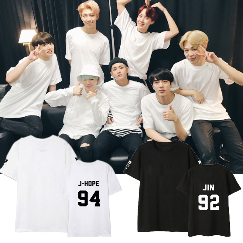 kpop BTS Bangtan Boys clothes with money short sleeve T-shirt female summer lovers Korean Fan loose wild student k-pop T shirt