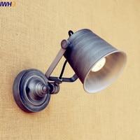 IWHD Loft Vintage LED lámparas de Pared accesorios comedor Sala ajustable Industrial luz para Pared de escalera Sconce Lampara Pared|lampara pared|led wall light fixture|light sconce -