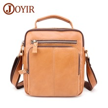 JOYIR 2019 Mens Genuine Leather Messenger Bag Male Retro Casual Shoulder High Quality Crossbody Handbags For Man