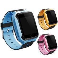 Niños niños gps smart watch reloj de pulsera con cámara de seguridad gps perseguidor SOS Llamada Perdida Anti Pantalla de 1.44 Pulgadas Para Android teléfono