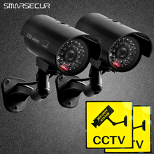 Waterproof Dummy CCTV Camera With Flashing LED For Outdoor or Indoor Realistic Looking Fack Camera for Security