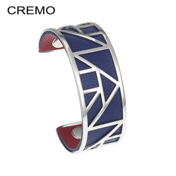 b0560cf9dc55 Cremo Egipto brazalete brazaletes pulseras hueco eterna de acero inoxidable  pulsera Bijoux Femme cóctel Reversible 25mm pulseras de brazalete