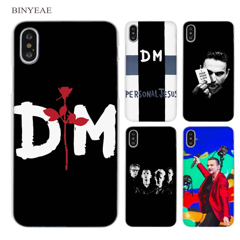 BINYEAE Depeche Mode dm Clear Cell Phone Case Cover for Apple iPhone X 6 6s 7 8 Plus 4 4s 5 5s SE 5c