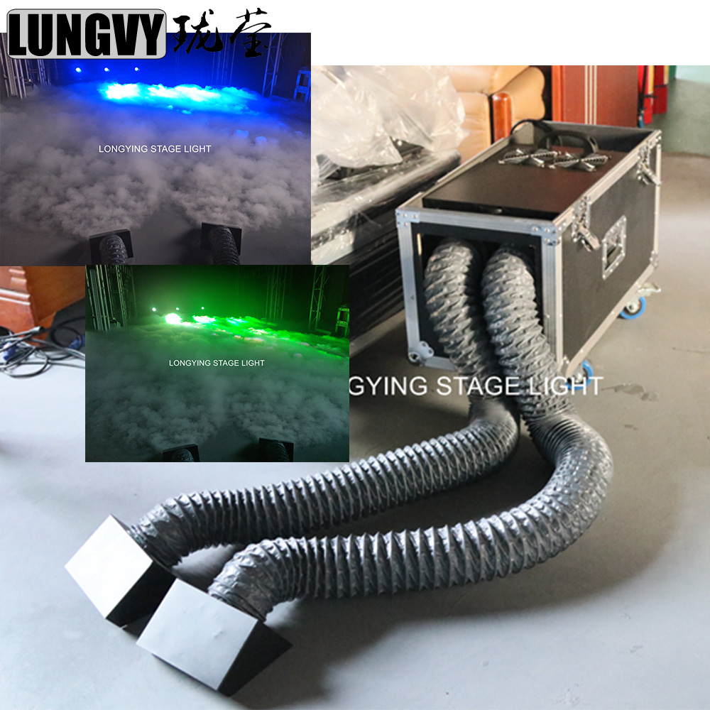 Free Shipping New Design Double Hose Outlet Water Smoke Machine DMX Remote Control Stage Effect 2000W Water Low Fog Machine