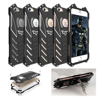 R JUST Batman Rugged Metal Aluminum Shockproof Anti Scratch Kickstand Case Cover Frame For IPhone 5