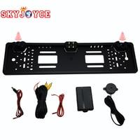5 Sets DHL Wholesale Car Rearview Camera European License Plate Frame Camera Parking Sensor Control Box