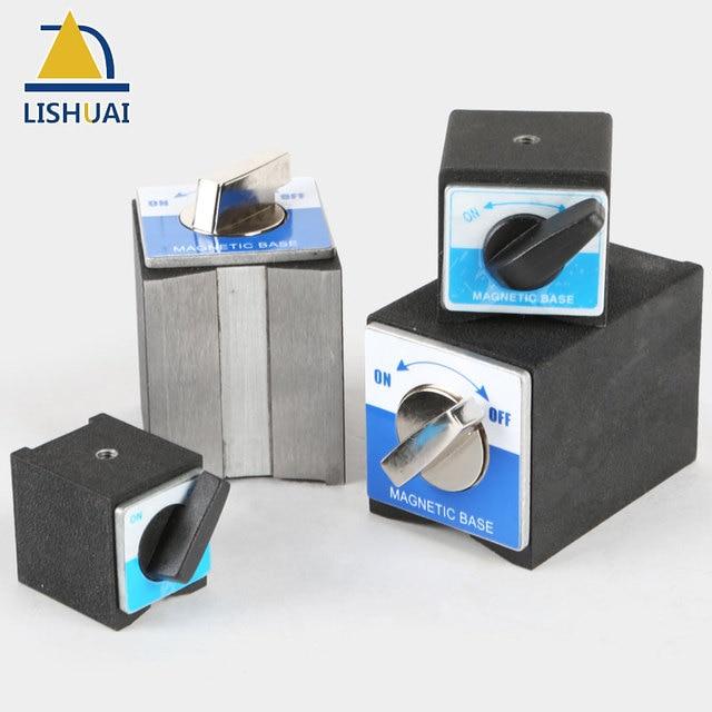 LISHUAI على/قبالة حامل قاعدة مغناطيسية للتحويل النيوديميوم المغناطيس مؤشر المشبك 30 كجم/50 كجم/80 كجم/100 كجم
