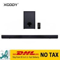 XGODY Bluetooth динамик Саундбар для дома Театр RCA коаксиальный и оптический Мощный сабвуфер Динамик с дистанционным Управление 40 W