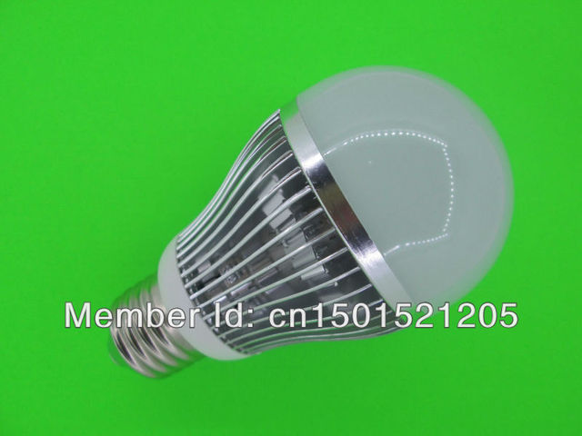 14W LED bulbs, dimming bubble bulb AC85 - 265V, E27 , silver shell color, warm / cool white ,7 *2W+ Free shipping