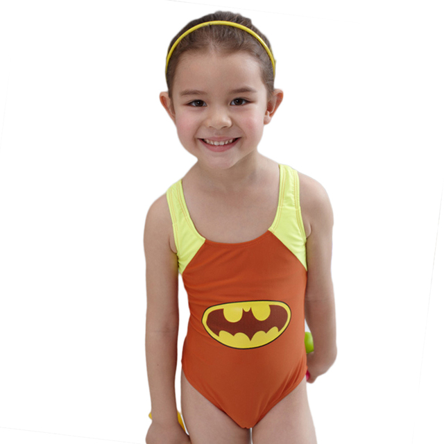 7663f28a47 New 2018 Brand Girl s Batman Swimsuit For Children One Piece Swimwear  Sports Wear Bathing Suit Kids Summer Beach Wear