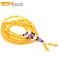 Gem Inside Natural Stone Zen Mala Buddhist Prayer Tibetan Rosary Beads Bodhi Beads Christian Prayer Beads