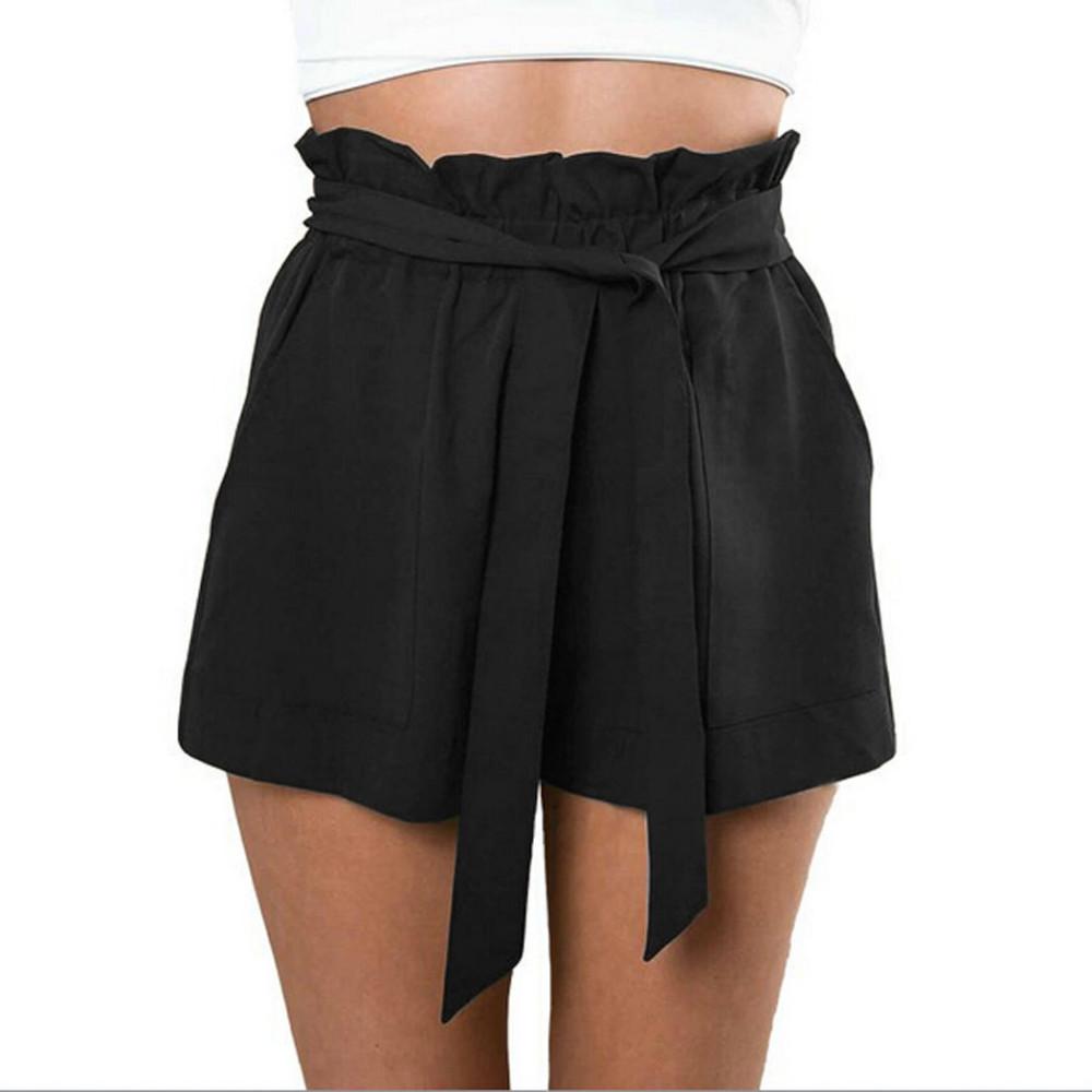 HTB16ID7NXXXXXcUXVXXq6xXFXXXC - High Waist Shorts Loose Shorts With Belt Woman PTC 59