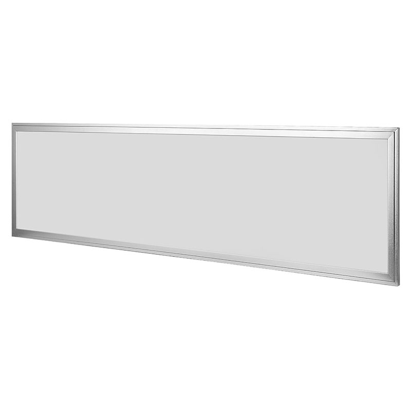 ФОТО 8PCS Ultra Thin 48W LED Flat Panel 1x4 LED Panel 120x30 LED Light Panel Fixture Silver Frame 4000LM Dimmable